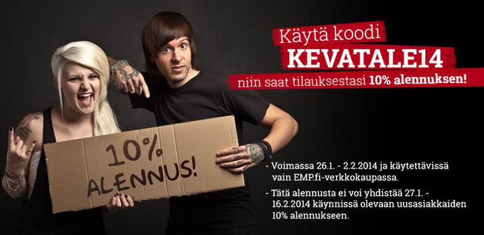 Alennuskampanja: Nyt saat -10% kaikkien tuotteiden hinnoista!