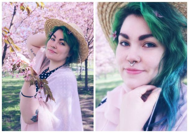 Kirsikankukkia ja pastellivärejä