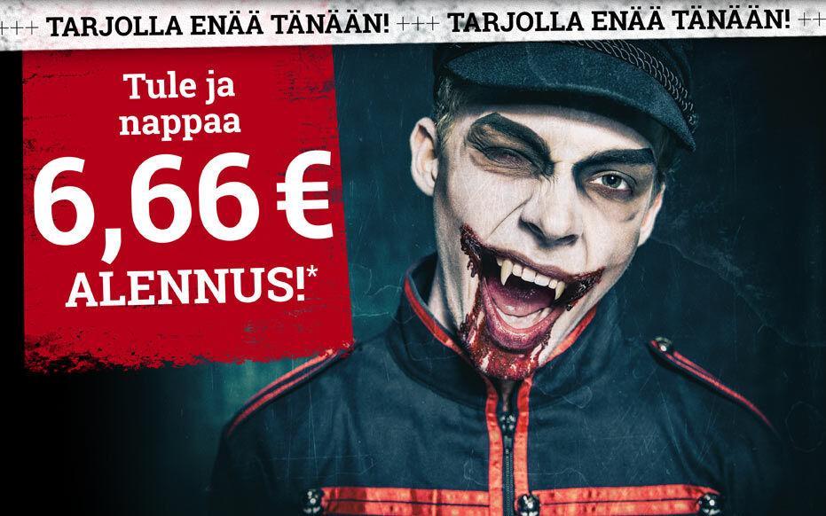 Tule ja nappaa 6,66 € alennus*