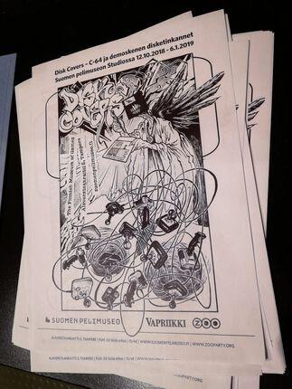 Disk Cover art – Commodore 64
