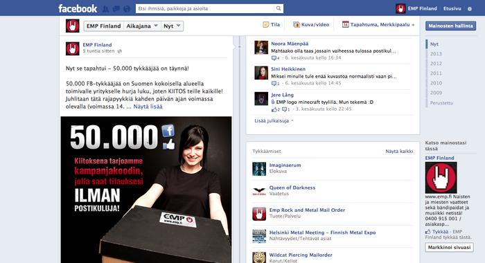 50k hyvää syytä olla Facebookissa!