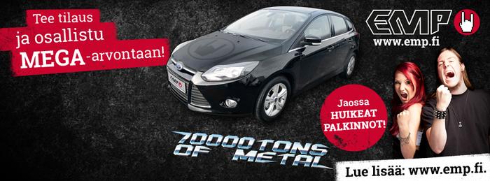 "EMP-kisa - Voita Ford Focus tai liput  ""70.000 Tons of Metal 2014"" -risteilylle!"