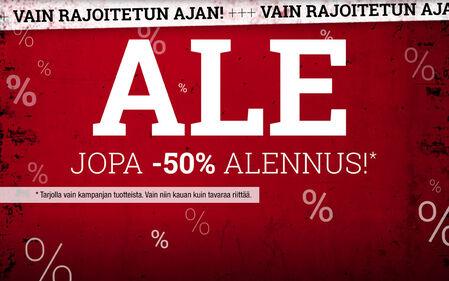 Ale! Jopa - 50% Alennus!