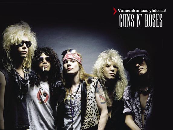Guns N' Roses aloittaa kiertueen - ja saattaa tulla myös Eurooppaan!