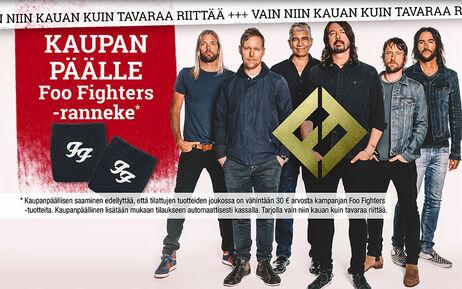 KAUPAN PÄÄLLE Foo Fighters -ranneke