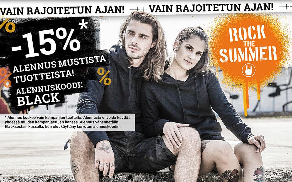 -15% alennus mustista tuotteista!
