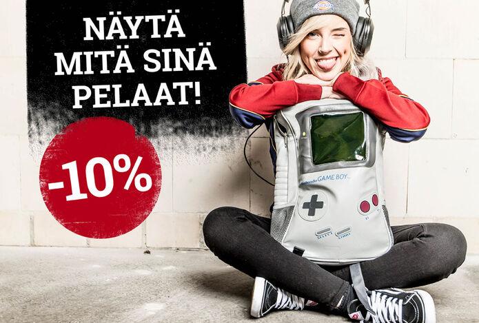-10% pelien fanituotteista
