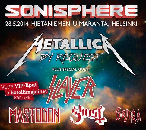 Sonisphere 2014 VIP-liput ja hotelli - osallistu ja voita