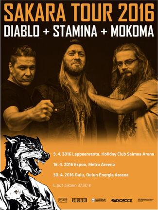 Sakara Tour käynnistyy: Stam1na, Mokoma ja Diablo tien päälle
