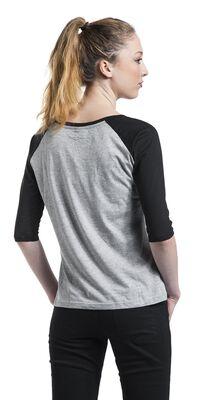 Kontrastivärinen 3/4-hihainen raglan T-paita
