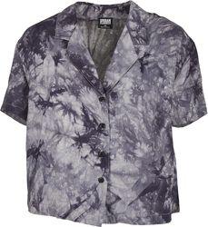 Ladies Viscose Tie Dye Resort Shirt havaijipaita