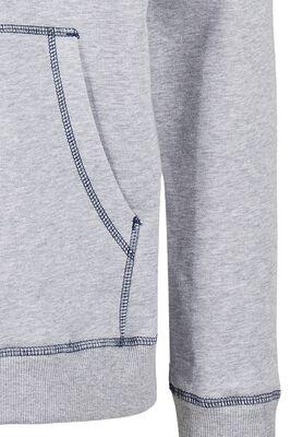 Organic Contrast Flatlock Stitched Zip Hoody