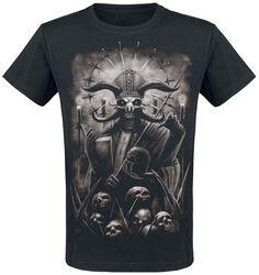 Musta T-paita painatuksella