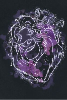 Simba And Mufasa - Starry Night