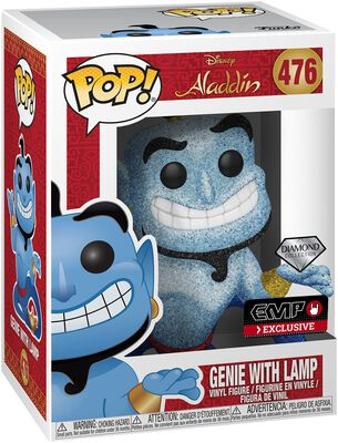 Genie with Lamp (Diamond Collection) (Glitter) Vinyl Figure 476 (figuuri)