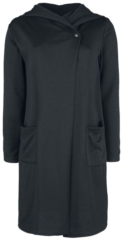 One Button Stretch Sweat Coat
