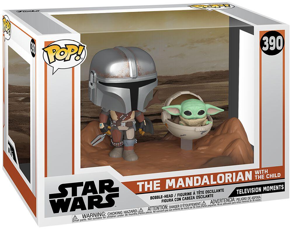 The Mandalorian - The Mandalorian with The Child (Movie Moments) Vinyl Figur 390 (figuuri)
