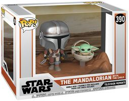 The Mandalorian - The Mandalorian with The Child (Movie Moments) Vinyl Figur 390 (figuuri)