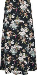 Ladies AOP Flowers Viscose Midi Skirt midimekko