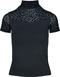 Ladies Flock Lace Turtleneck Tee T-paita