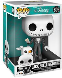 Jack Skellington With Zero (Jumbo Pop!) Vinyl Figure 809 (figuuri)