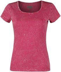 Pinkki T-paita ryppypesulla