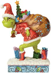 Tip-Toeing Grinch with Bag of Gifts Over Shoulder (figuuri)