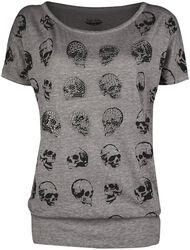 T-paita pääkallopainatuksilla