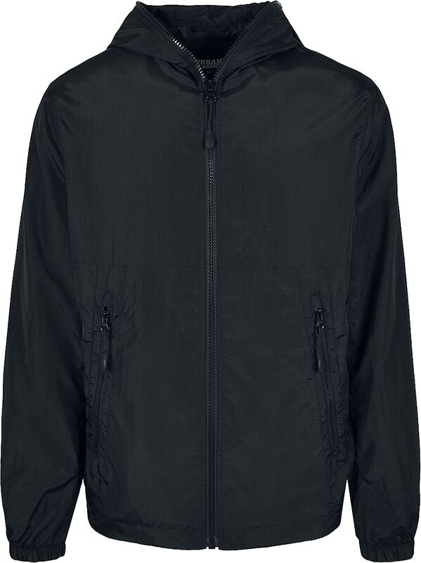 Full Zip Nylon Crepe Jacket