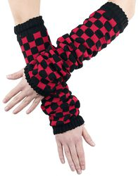 Arm Warmers With Chessboard Pattern