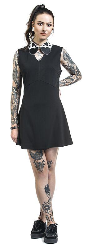 Madison Heart-Collar Sleeveless Stretch Dress