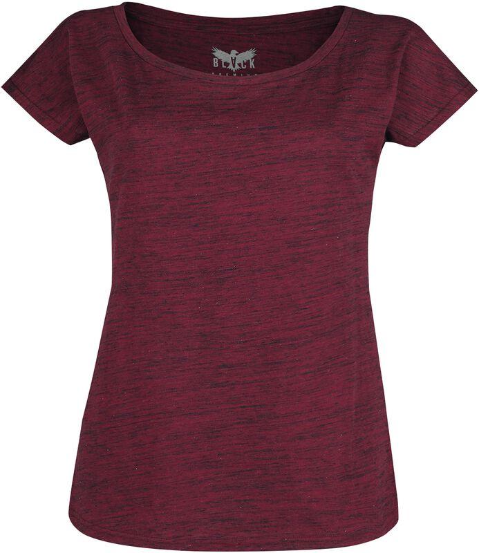 Täplikäs punainen T-paita