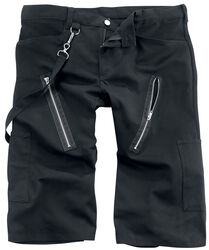 Zip Short Pants Denim