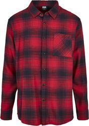 Oversized Checked Grunge Shirt kauluspaita