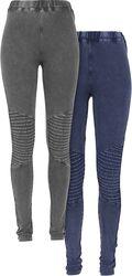 Pre-Pack Ladies Denim Jersey Leggings leggingsit (2 kpl setti)