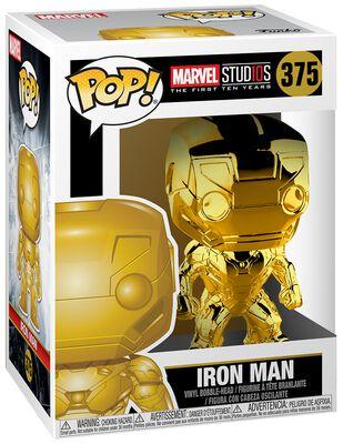 Marvel Studios 10 - Iron Man (Chrome) Vinyl Figure 375 (figuuri)