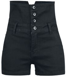 High Waist Denim Hot Pant