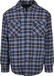 Plaid Quilted Shirt Jacket välikausitakki