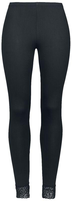 Mustat Black Premium -leggingsit pitsiresoreilla