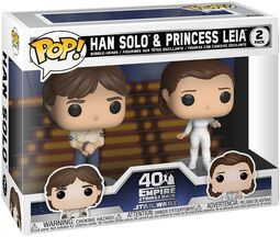 Empire Strikes Back 40th Anniversary - Han Solo & Princess Leia (2 Figures) Vinyl Figure (figuuri)