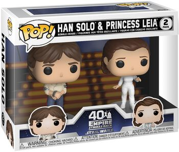Empire Strikes Back 40th Anniversary - Han Solo & Princess Leia (2 Figures) Vinyl Figure (figuuri)