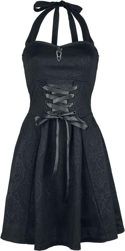 Gothicana halterneck-mekko nyöreillä