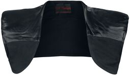 Shoulder Bolero With Imitation Leather Applications