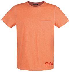 RED X CHIEMSEE - oranssi T-paita rintataskulla