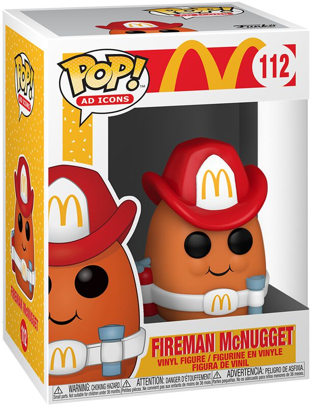 Mc Donalds Fireman McNugget Vinyl Figure 112 (figuuri)
