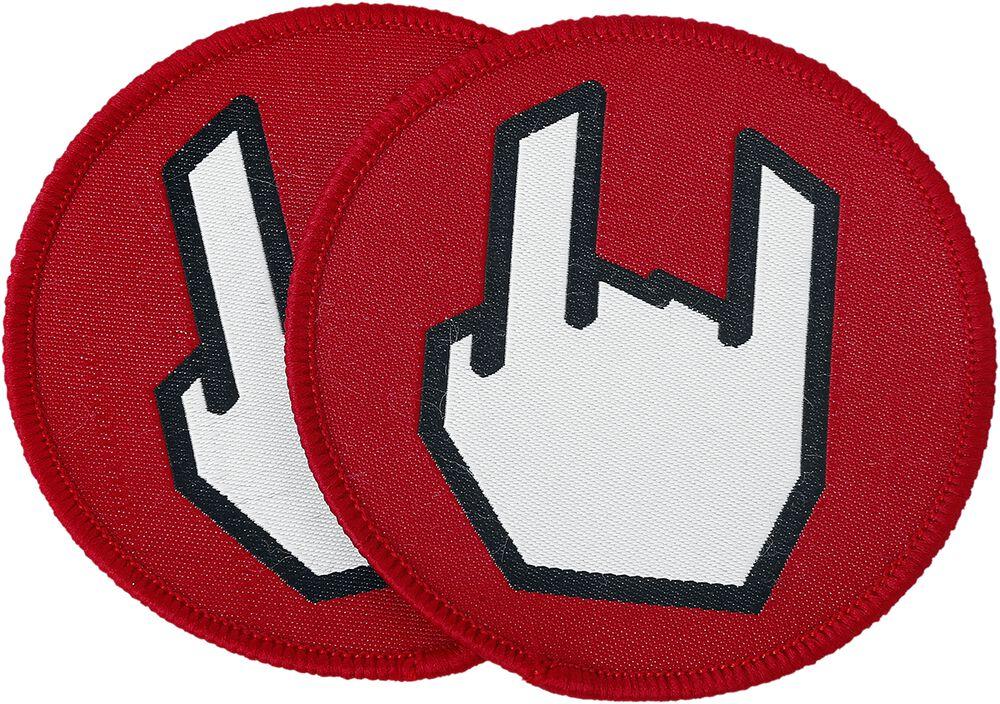 EMP Rockhand -kangasmerkki, 2 kpl