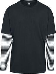 Oversized Double Layer Striped LS Tee pitkähihainen paita