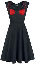 Black Red Bow Lady Hepburn Dress