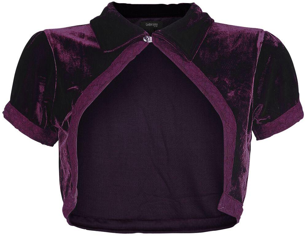 Samettinen violetti bolero lyhyillä hihoilla