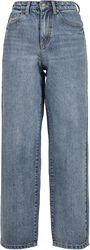 Ladies High Waist 90s Wide Leg Denim Trousers farkut
